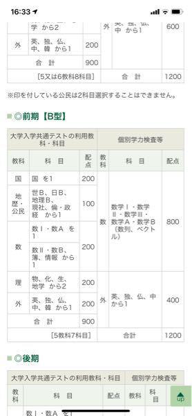広島大学の情報工学科の入試科目について質問です。 前期B型の2次試験は数学と外国語のみということであっていますか?