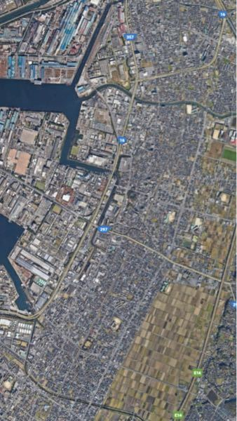 この航空写真はどの地区かわかりますか? また、その理由も教えてください。