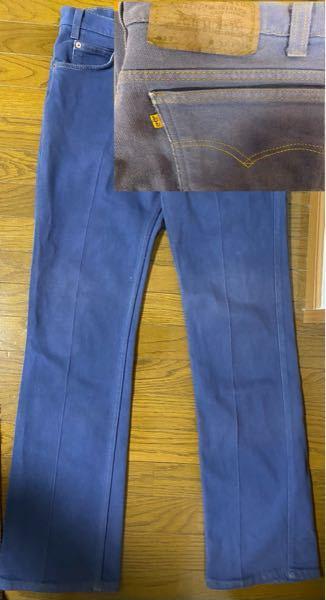 こちらは古着屋で購入したLevi's517のモデルなのですが、デニム生地っぽくないことやセンタープレスも入っていることからスタプレに近いのかなと思います。 517はデニムだと思っているのですが、スタプレの517もあるのでしょうか。また、豆知識なども教えてくださると助かります。