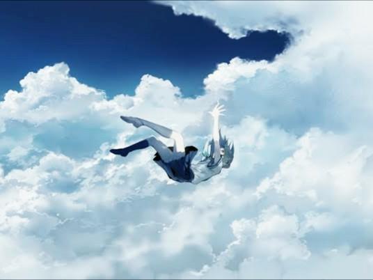 【大喜利】まいくNHです。 . たまには、シンプルにイキます。 「画の少女の台詞を、どうぞ♪」 [例] 雲の上に、乗れなかったあーっ! もっともっと、ダイエットしときゃ良かったあーっ!(T▽T) (自分なら乗れると、本気で思ってたらしい・・・)