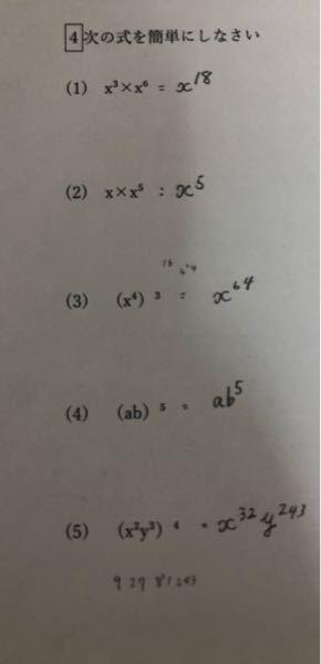 中学生の問題です。 間違っている箇所がありましたら 答えと解説をお願いします。