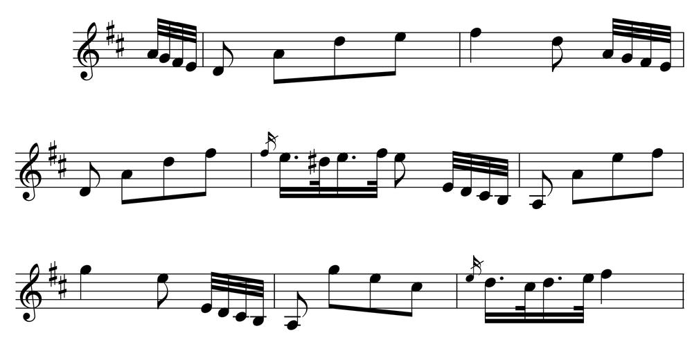 添付した譜面のようなメロディーの運びを持つ曲で、思い当たるものがあれば教えてください。 亡き父がバイオリンで弾いていた曲ですが、傾聴していたわけではないのでうろ憶えです。 楽譜は全部売ったので、手がかりがないのです。 ※ 急ぎません。