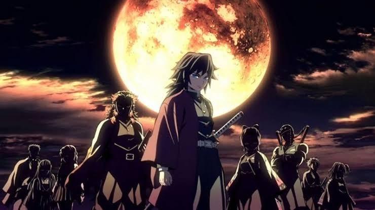 鬼滅の刃の、この、冨岡さんが柱のセンターになってる画像は、アニメ一期のOPですか?