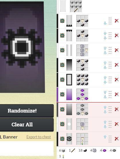 Minecraftのバナーについて質問です 現在のバージョンでは機織り機を使って模様を描きますが6回しか染色出来ませんよね、以下の画像のように6つ以上で一つの絵にしてるのはどうやるのですか?