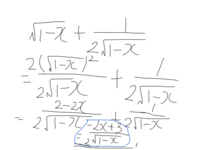 計算式の質問です。この計算式の間違いと正しい式を教えてください。微分です。