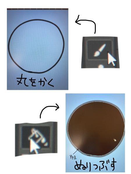 Photoshopのこの現象についてわかる方教えてください。 ブラシツールで円を描きその中を塗りつぶりツールで色を入れると円の線と色の間に隙間ができます。 なぜこのようなことが起こるのでしょうか? こうならないための解決策を教えてください。 よろしくお願い致します。