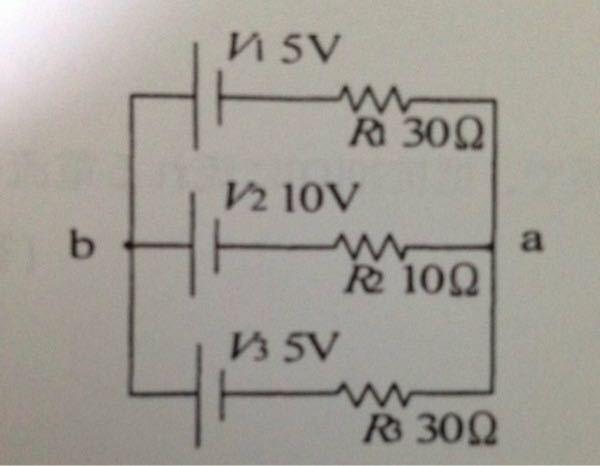 キルヒホッフの定理用いてどのようにとけば良いですか?(1)ab間の電圧 (2)各抵抗の電流