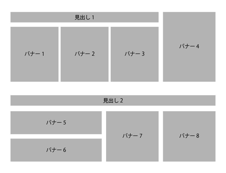 HTML/CSS初心者です。 現在コーディングの勉強中なのですが、単純な横並びではなく 画像が縦横1列じゃない場合の記述方法は存在するのでしょうか? 例えば添付のような並びの場合、どうやって記述...