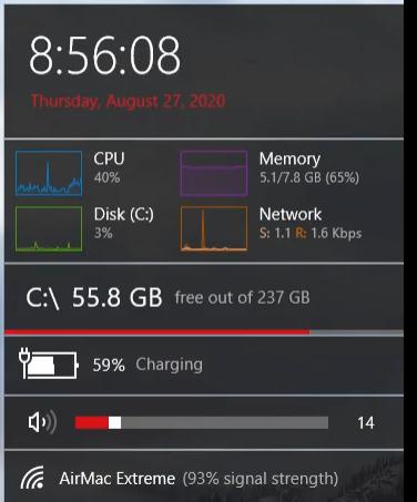 windows10でこの写真のようにシステム情報を表示してくれるソフトは何でしょうか?教えてください。