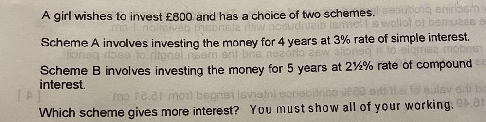 この文章問題の計算の解き方教えて欲しいです。
