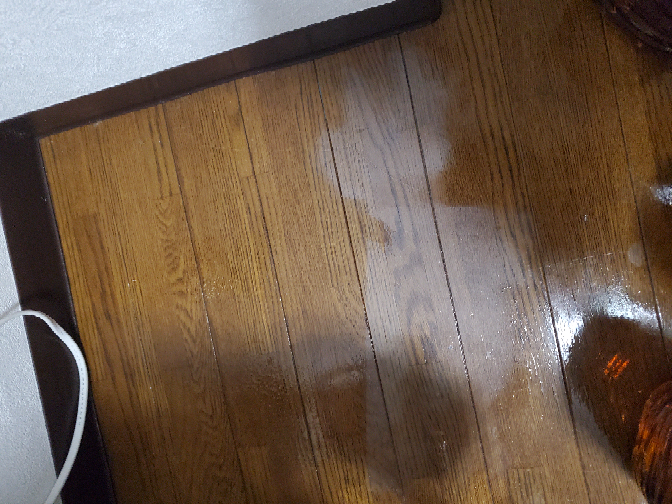 腐ったバナナを放置してたら、液体がバナナから溢れ出てて、液体がついていた床板の部分が、白く染ってしまっていました。 これを綺麗にする方法はありませんか?