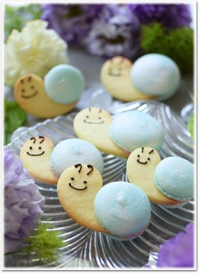 入梅には「かたつむりマカロン」を食べて雨を楽しみますか??