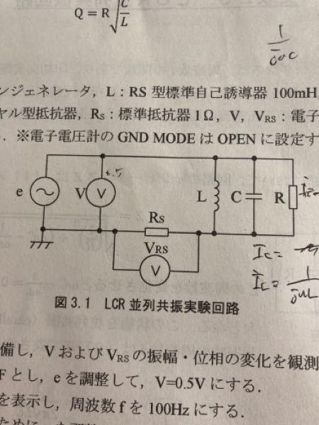LCR並列共振回路に標準抵抗器が使われているのですが、なぜ使われるのかがよく分からないです。どなたか教えていただけないでしょうか?