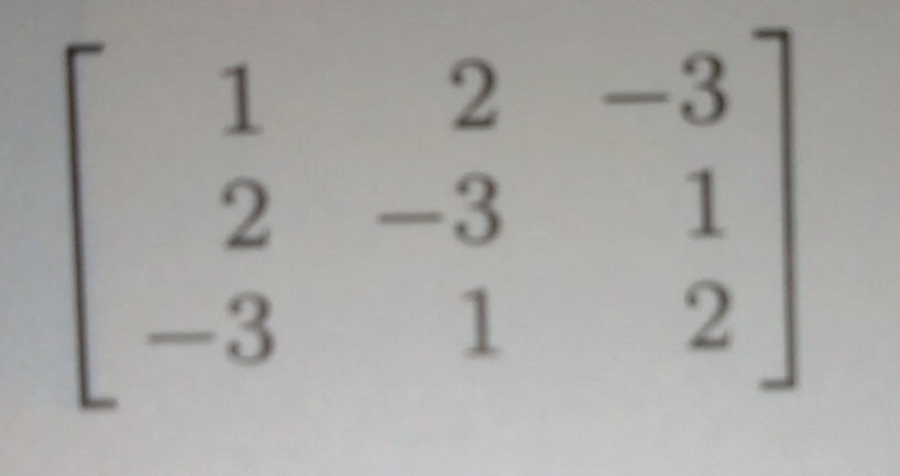 下の行列はなぜ正則でないのですか? また、正則かどうかってどうやって確かめるのですか?