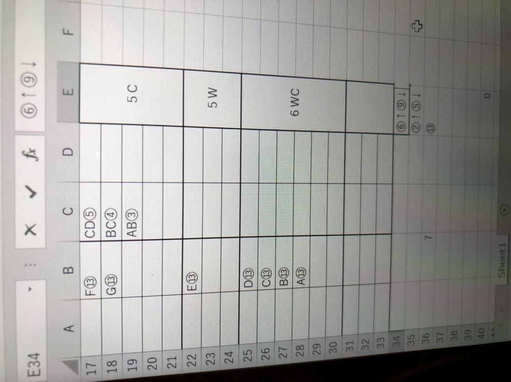 ExcelのCOUNTIFについて教えてください。 作業している中で、名前を含む13を含む人数は、カウントできたのですが、名前を含む②以上⑤以下のカウント方法、名前を含む⑥以上⑨以下のカウント方法を教えていただけると幸いです。