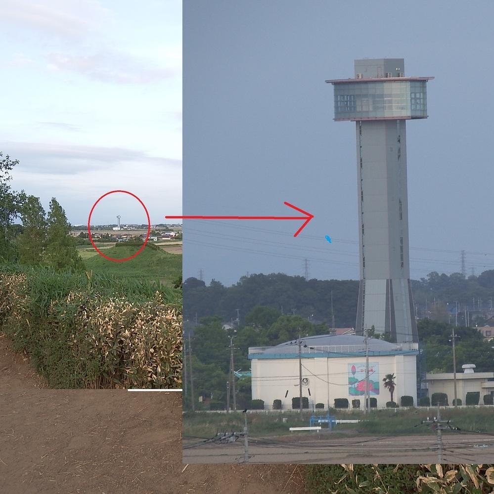 先日埼玉の行田市にある埼玉古墳公園(〒361-0025 埼玉県行田市埼玉4834)へ行ってきました。 ある古墳の頂上から不思議な建造物がみられ展望台のようです。ご存じな方おりましたら写真を掲載しましたので教えてください。