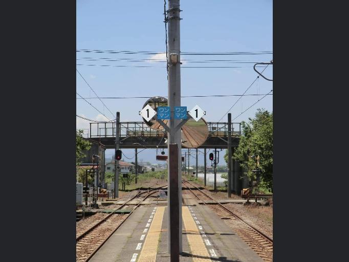鉄道 駅ホームのひし形に書かれてる 「1」の意味教えて下さい
