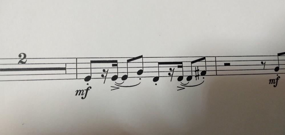 トランペット3rdで今コナンメインテーマを吹いてるんですけど、ここのリズムどなたか教えて頂けますか??