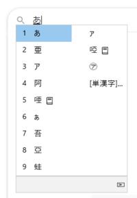 Windows10  漢字変換するときに変換候補が複数列で表示されてしまいます。 一列で表示させたいです。どうすればいいですか。 画像一番下の左向き矢印をクリックしても、スペースで変換候補の移動をするとまた勝手に複数列表示されてしまいます。