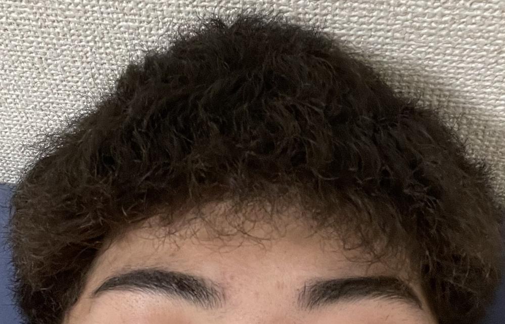 チリチリで硬いくせ毛なのですが何か良い髪型や合いそうなのはありますか? あと眉毛はどうしたら良いと思いますか? 一応社会人です。