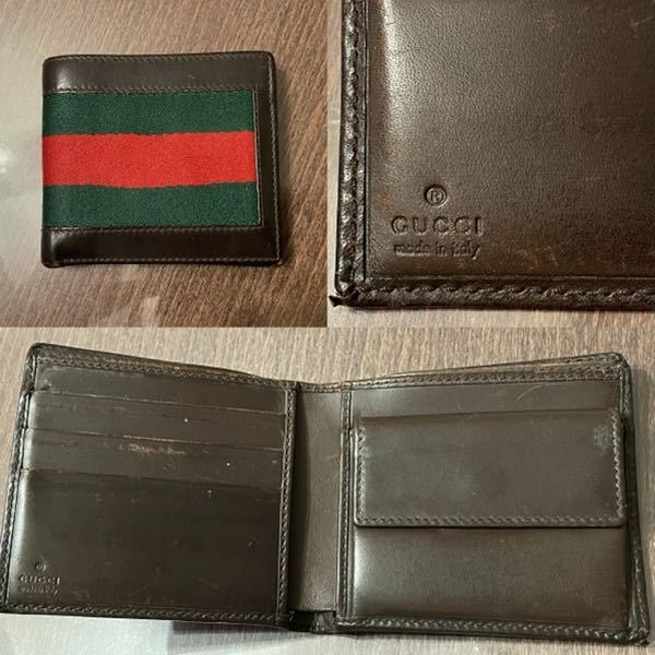 このグッチの財布は本物でしょうか? 赤のラインが少し歪んでいます。 詳しい方がいらっしゃいましたら教えて下さい。