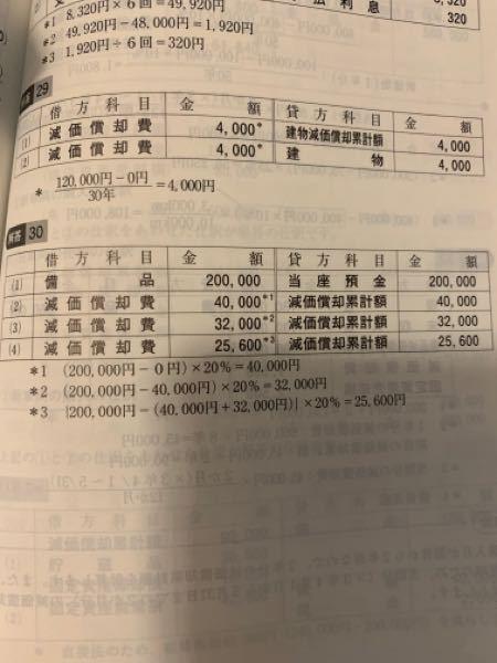 簿記について 減価償却費累計額は〇〇減価償却費累計額などがありますが〇〇をつける時と、つけないとき時の違いがわからないです。 問題33と34の違いお願いします。