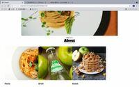 """HTML CSSでサイトをお試しに作ってみようと思い作成しています。 しかし写真の画像の通りABOUTの下の3枚の画像が左寄りになってしまいます。 色々手段を試しましたができませんでした。 どのようにしたら中央に寄せることができますか。 またコードの書き方も汚いですが教えてくれたらとても助かります。  HTMLのコード   <div class=""""aboutSection&q..."""