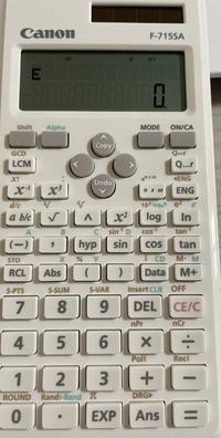 関数電卓です πを打ちたいのですが、押してもEと出てきてしまうのですが、どうやったら打てますか?