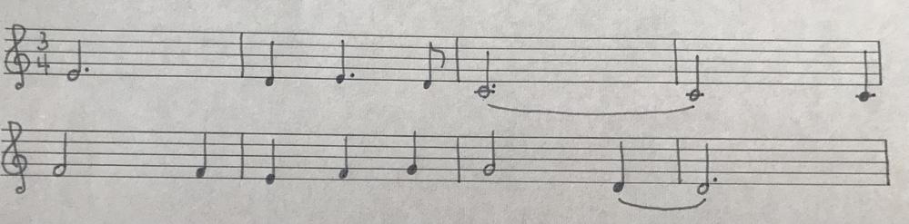 この曲名が知りたいです。 調もリズムも違うかもしれませんが…