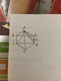 六角形ABCDEFは正六角形で、面積が60㎠のとき、 EG:GFを求める問題です。 解法、解説お願いします。