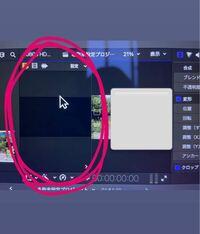 Final Cut Proの丸で囲ってある 画面の消し方を教えてください(TT) 何故か出てきて無くすことができません