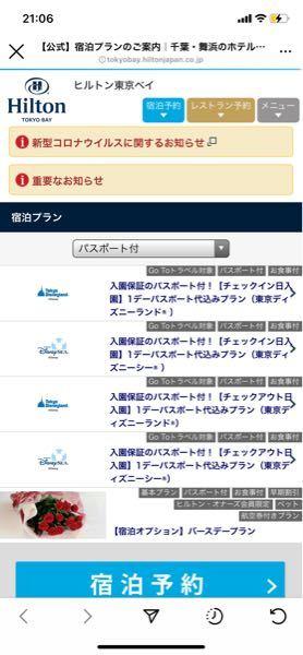 ヒルトン東京ベイのパスポート付きホテルプランを予約したいのですが、下の写真の入園保証付きパスポートって、パスポートは必ずついてきますか?