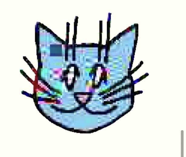 これはLINEスタンプにある「画質悪猫」というものです。ドット絵になる画質の悪さというより、こういう画質の悪さを作れる方法を探しています。 有料アプリを使ってもいいので、教えてください!