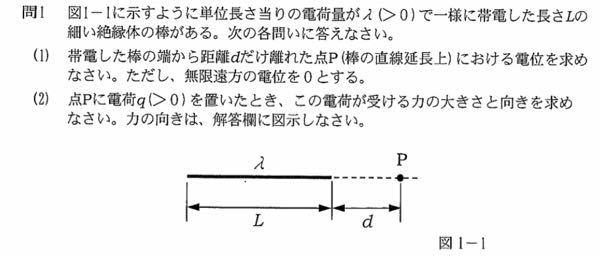 電磁気学(電荷)についての問題です。 答えを教えてください