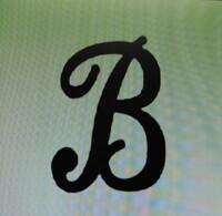 フォント名を知りたい 「ワードで作った」と言うこの「B」 フォント名が知りたいのです これは印刷された紙を撮った物で 歪みは否定できません 頼まれた私のPCにはオフィス入ってないので フォント検索しても表示できないので どうしようかと