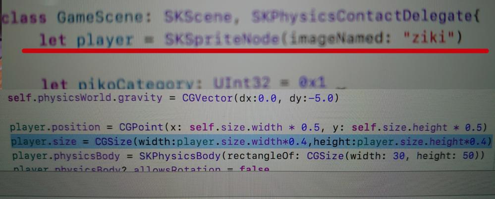 プログラムのSwiftの質問です。 こんな感じで画像を読み込んでサイズを設定してるのですが、この画像のサイズの範囲内をタップ&ドラッグして移動させる事がしたいのですが(イメージはPCのウィンドウ...