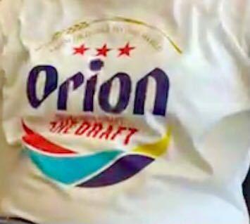 このオリオンビールTシャツの赤星の上に金色で囲っているタイプの このTシャツはどこの通販サイトで購入できますか?