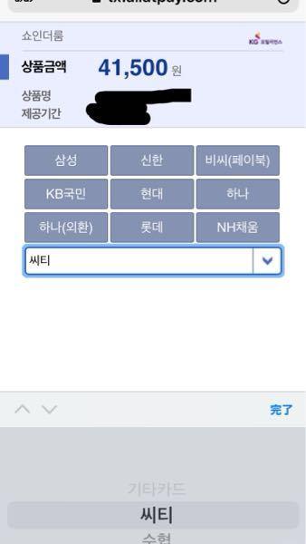はじめまして。 韓国のサイトで買い物したいのですが、カード選択までいったとおもうのですが、日本で使えるようなVISAとかアメリカン・エキスプレスとかが使えるのかどうかが翻訳かけてもさっぱり分かりません。 カード決済画面は下のような感じです。 どなたがわかる方いましたら教えてください。