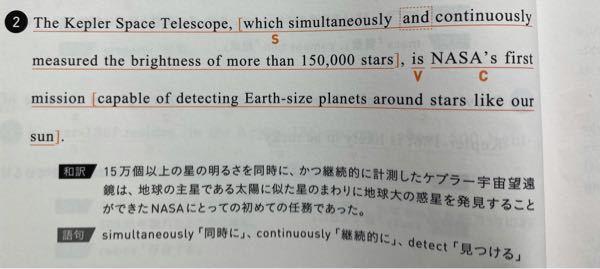 英語です。 ケプラー宇宙望遠鏡 = NASAの初めての任務 がおかしい気がするんですが、、 『ケプラー宇宙望遠鏡を使うこと』だったらわかりますが。