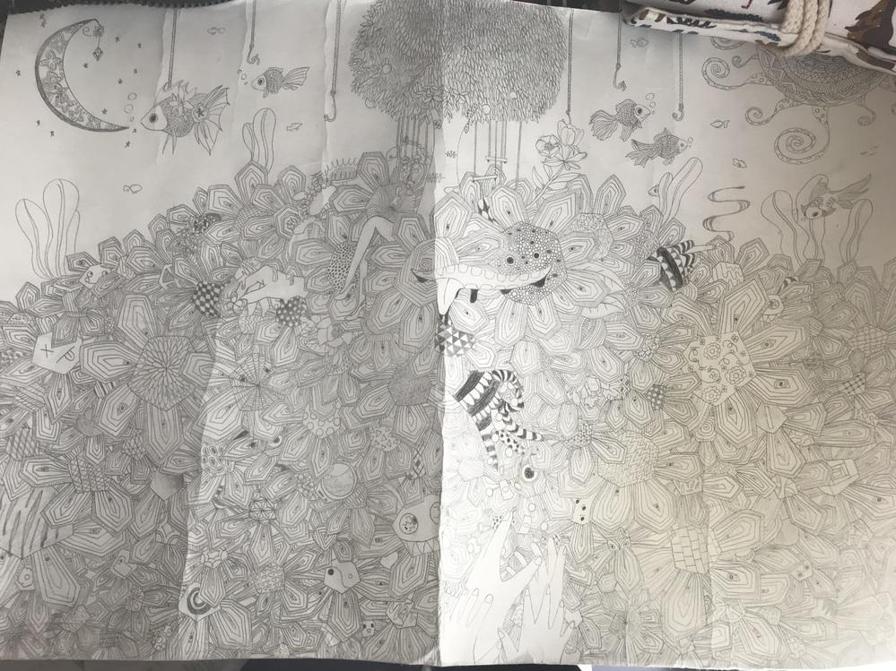 絵の評価をください! 中3です! シャーペンで描きました!