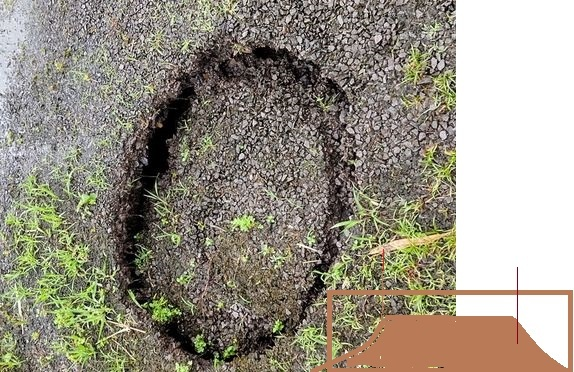 庭に突然直径90cm程の楕円形の窪みが出現!(画像) 朝にはなかったのに、出先から戻った昼頃、えっ何?と思って 近づいたら、なんとも奇妙な穴が開いていて、陥没というよりか、 へこんでいる、といっ...