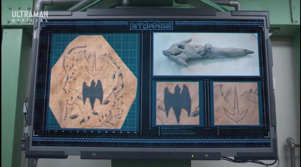 """アニメや特撮作品の中で「人類が発見したものが、ある敵の弱点や脅威となる」と聞き、思い浮かべるのは何ですか? 下記は『アラスカから出土された遺物で、ぺギラを封印したとされる""""空から降る光の矢""""』です。"""