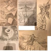 漫画家志望の高校1年生です。 漫画を描き始めようと思っているのですが、今まで全く漫画を描いたことがありません。 なので何から始めればいいのか、まず何をできるようにするべきかが何一つ分かりません。 iPadとApple pencilがあり、デジタルで描ける環境もあります。   趣味で怪物などのアナログの絵を描いていて、アナログでは下のような画力です。適当にいっぱい貼りました。  経験...