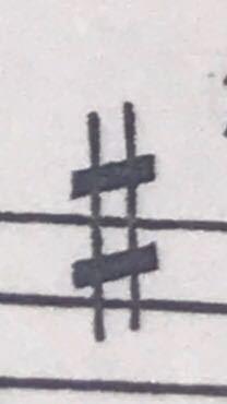 音楽の楽譜内にあるこの記号の名前と意味を教えてください ♀️