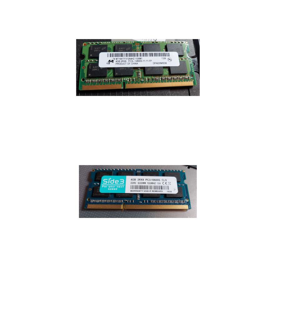 DLL LATITUDE E6530のメモリーを交換しようと、ネットでメモリを購入しましたが、規格を確認して購入したつもりが、 微妙に形が違いメモリーが入りません。既存のメモリーを取り外しても同...