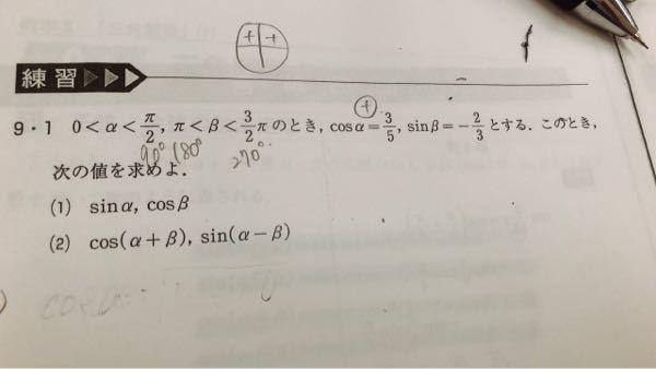 数学II 加法定理 1と2の解き方を教えてください。