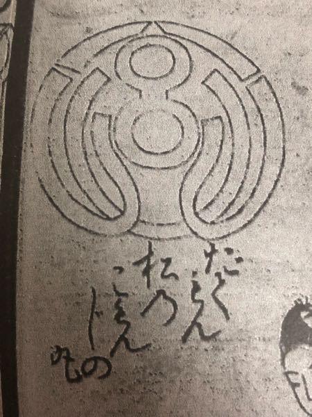 この絵の意味と下の文字の読みを教えてください! 「だてもん 松のこ〇んじの丸」←〇がわかりません