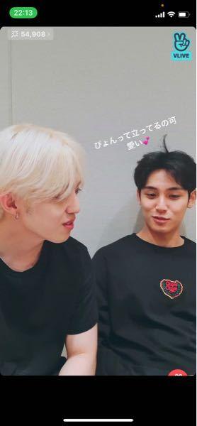 この写真の右側の方はなんて名前の方ですか? どこのグループかも分かれば教えて欲しいです。 多分韓国の方、KPOPアイドルかなとは思うのですが。