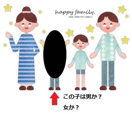 確立のパラドックスについて腑に落ちない点があります。 2人の子供問題というもので、 「ある家庭に2人の子供がいる。そのうちの1人が男の子であることが分かっているとき、もう1人も男の子である確率はいくらか」 というものがあるそうです。 年上:男 年下:男 年上:男 年下:女 年上:女 年下:男 年上:女 年下:女 の4通りから、問題の答えは1/3だそうですが、 この問題文には「兄・弟(年上・年下)を考慮する」とは書かれていません。 そうするとこの問題は、ある家庭(子ども2人)の写真があり、 そのうち1人の子供だけシルエットで性別がわからない状況と 同じなのではないでしょうか? 以下の画像ように、シルエットの子供が男か女かなので、1/2が正解なのでは? もし問題文に「※兄・弟を考慮すること」ないし「※生まれてくる順番を考慮する」と書かれていたら1/3になるのはわかるのですが・・・