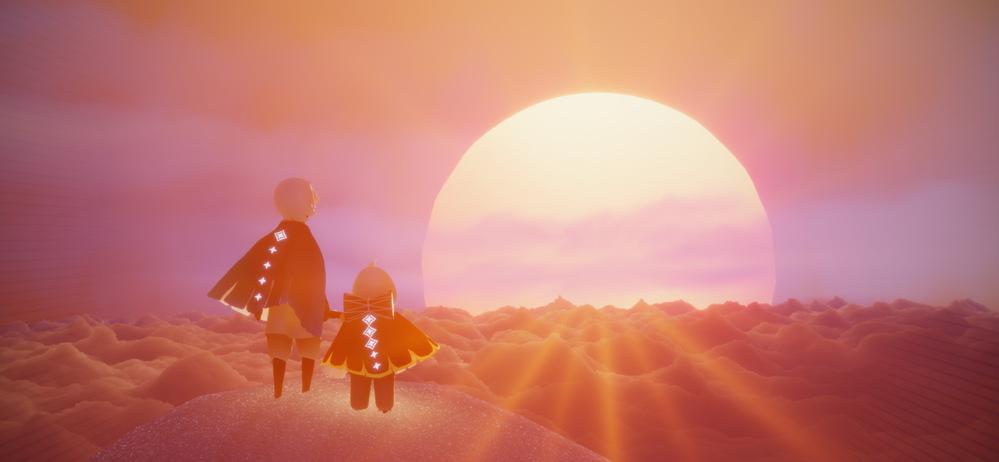 この写真の所に行きたいです! Skyってゲームの裏世界なんですが 1度フレンドさんに連れて行ってもらいましたがあっという間に着いたので行き方が分かりません 誰か教えて下さい お願いします